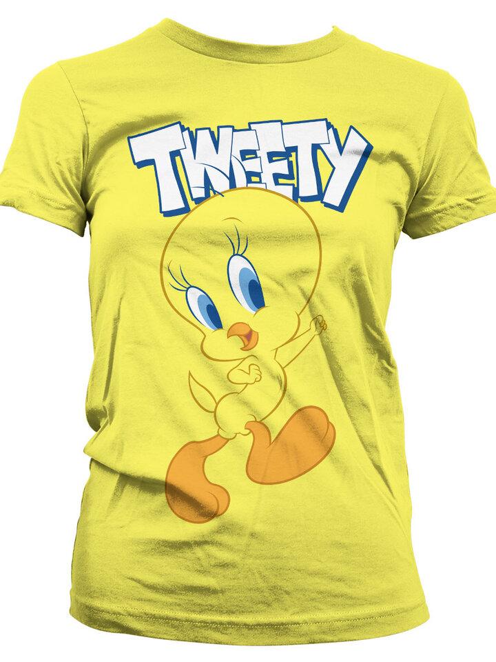 Výnimočný darček od Dedoles Dámske tričko Looney Tunes Tweety