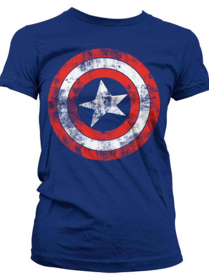 Výpredaj Дамска тениска Marvel Comics Captain America Щит