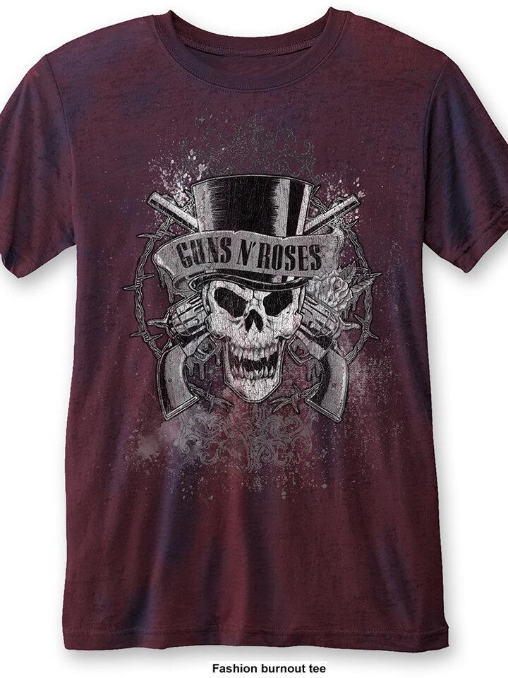 Pre dokonalý a originálny outfit Rdeča majica Guns N' Roses Faded Skull