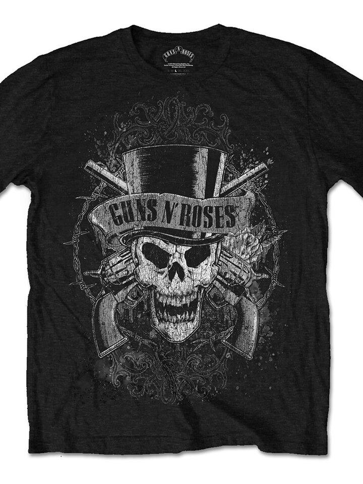 Potešte sa týmto kúskom Dedoles Majica Guns N' Roses Faded Skull