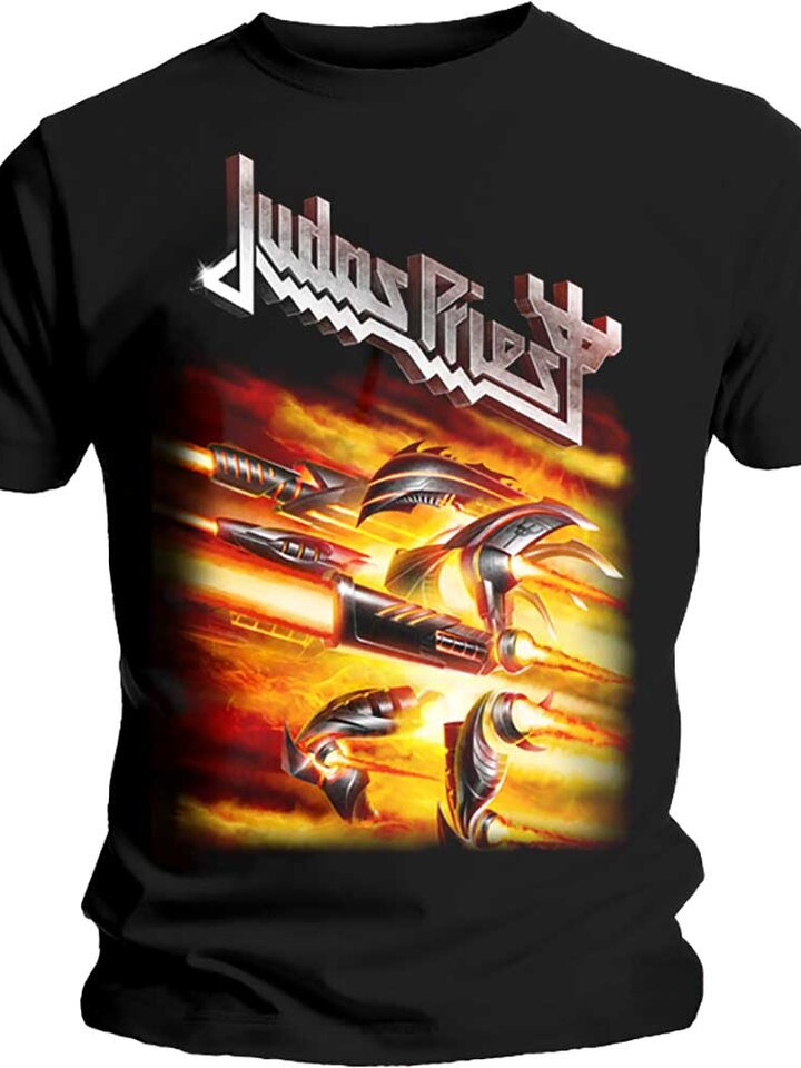 Hľadáte originálny a nezvyčajný darček? Obdarovaného zaručene prekvapí Тениска Judas Priest Firepower
