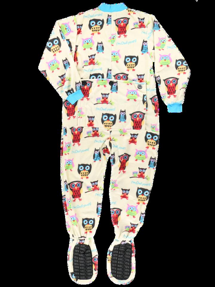 Lifestyle foto Dětské pyžamové dupačky Sova