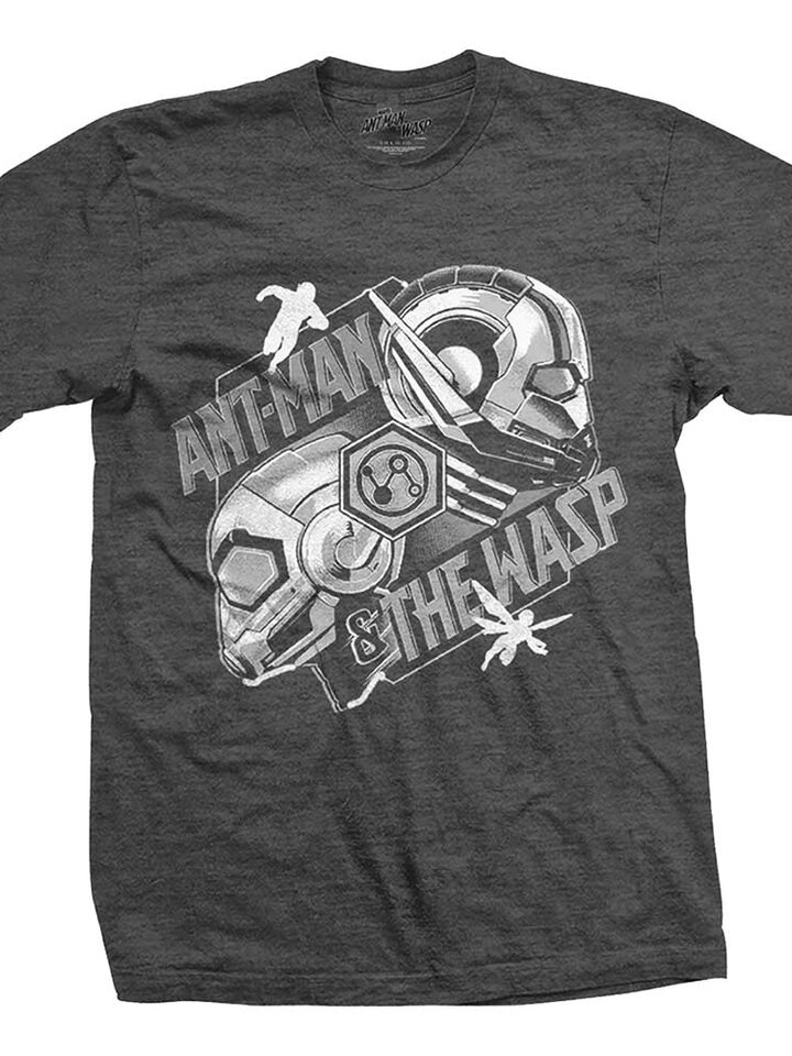 Výpredaj Temno siva majica Marvel Comics Ant Man & The Wasp Heads Comp.