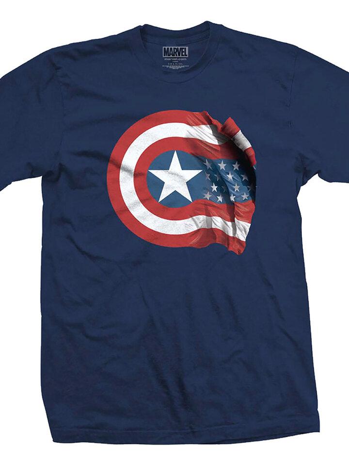 ОТСТЪПКА Тениска Marvel Comics Captain America American Shield