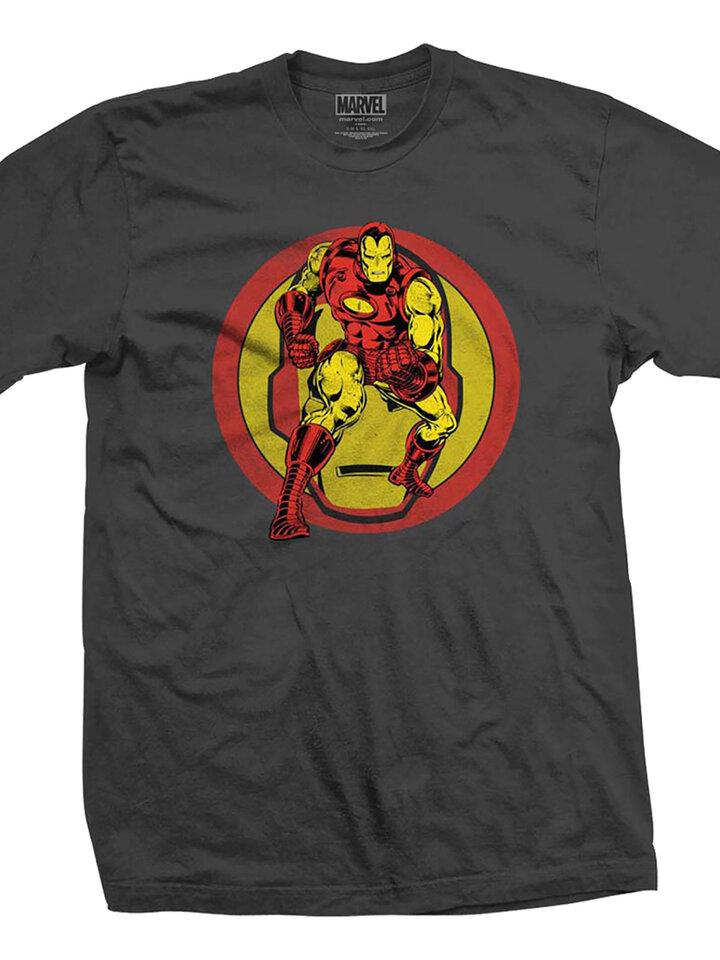 für ein vollkommenes und originelles Outfit T-Shirt Marvel Comics Iron Man Dual