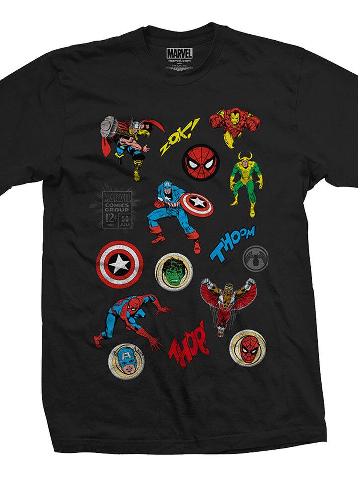 Tip na darček Majica Marvel Comics Random Badges