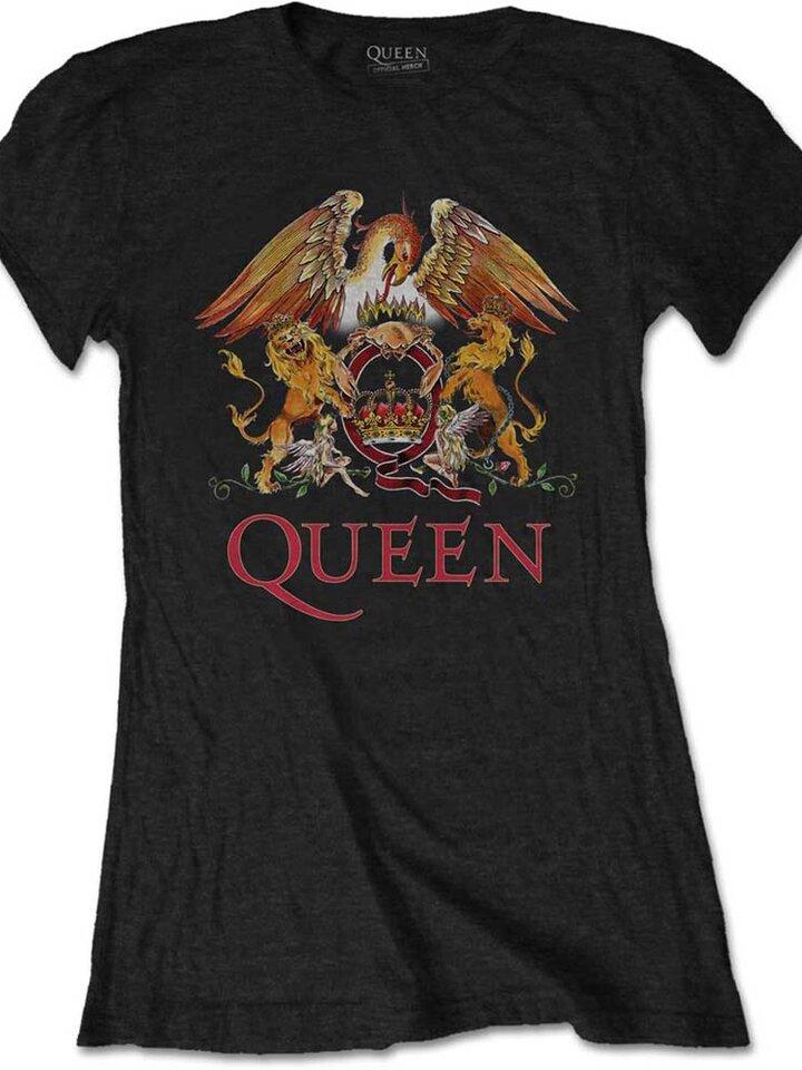 Eredeti és szokatlan ajándékot keres? a megajándékozottat garantáltan meglepi Női póló Queen Classic Crest