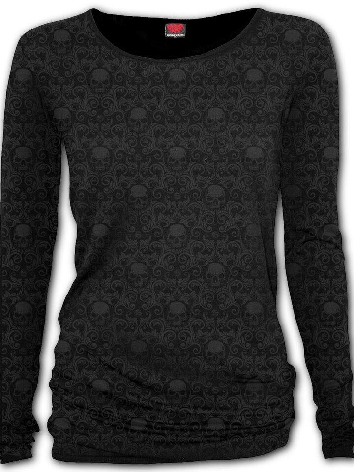 Lifestyle foto Dámske tričko s dlhým rukávom Temná elegancia