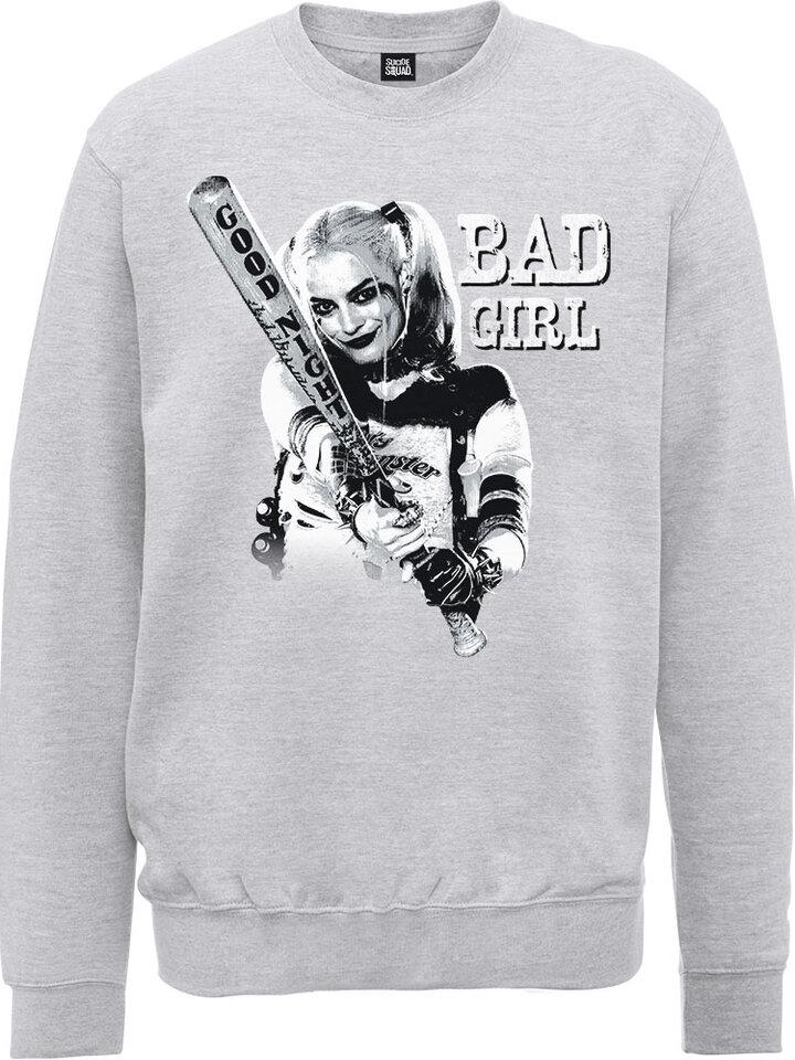 Pre dokonalý a originálny outfit Siv pulover DC Comics Suicide Squad Bad Girl
