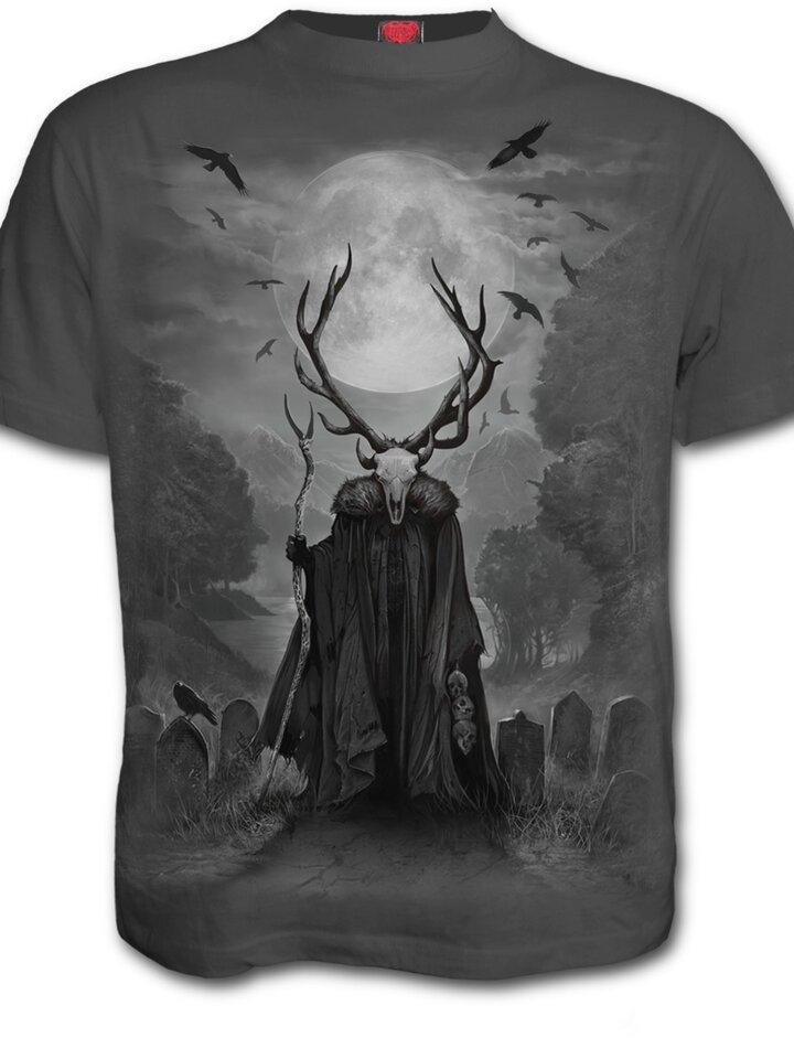 Pre dokonalý a originálny outfit Šedé tričko Duša jeleňa