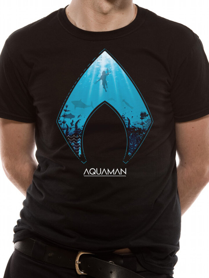 Zľava Tričko Aquaman movie - Logo and symbol