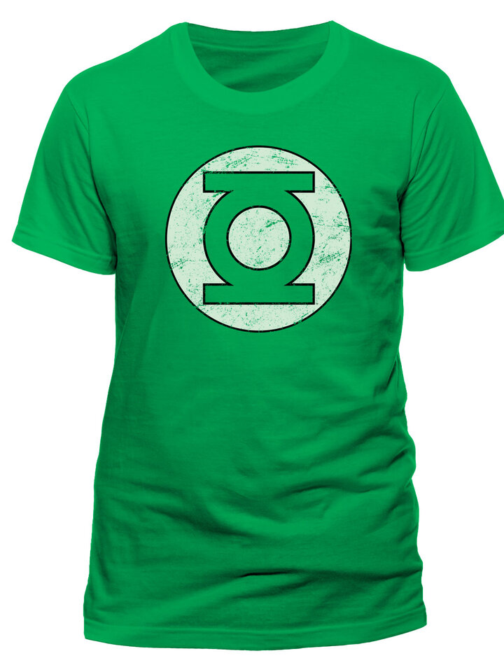 Foto T-Shirt Green Lantern - Distressed logo