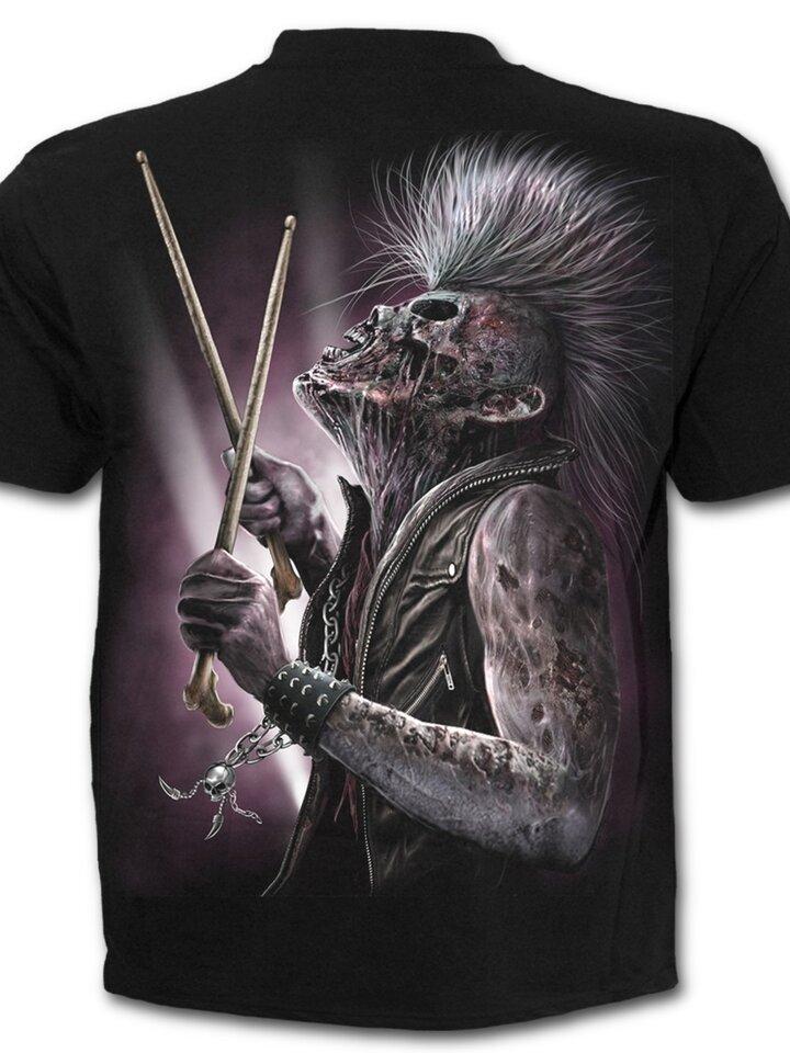 pro dokonalý a originální outfit Tričko Zombie bubeník