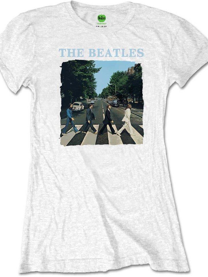 Tip na darček Бяла дамска тениска The Beatles Abbey Road