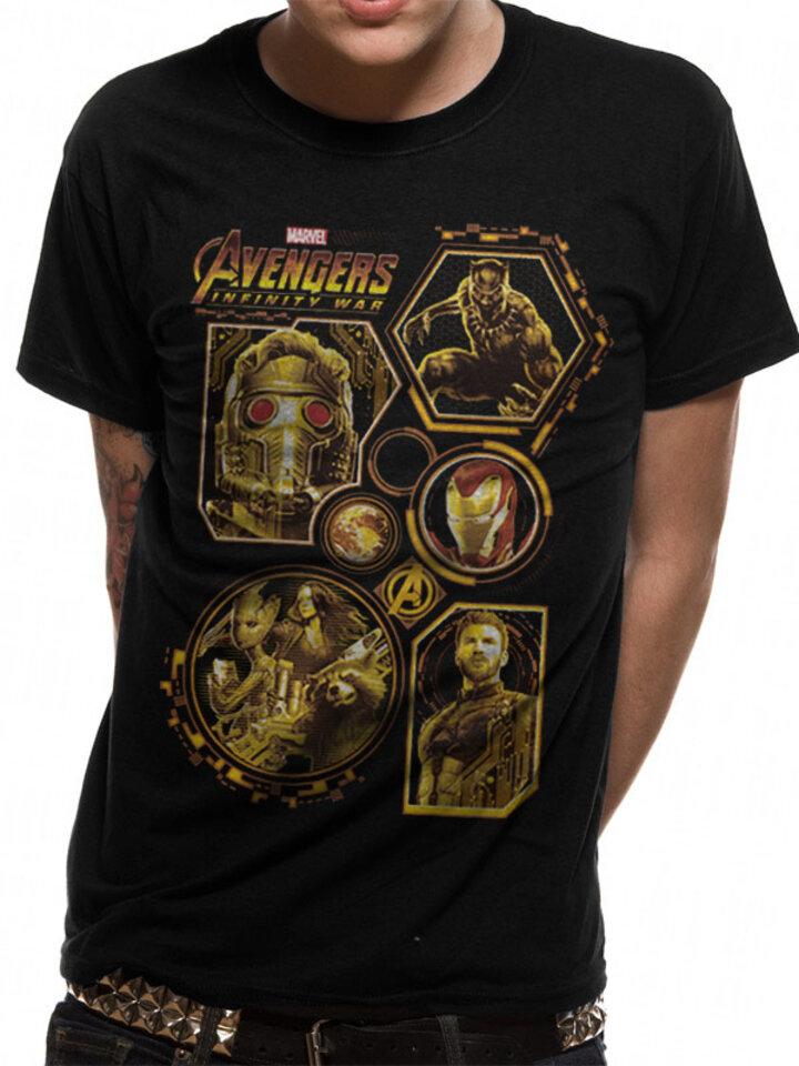 Hľadáte originálny a nezvyčajný darček? Obdarovaného zaručene prekvapí Тениска Avengers Infinity War - Block characters