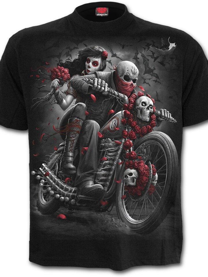 pentru outfit-ul perfect Tricou Motociclistul mort