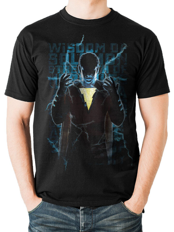 Ausverkauf T-Shirt Shazam movie - Heroic text