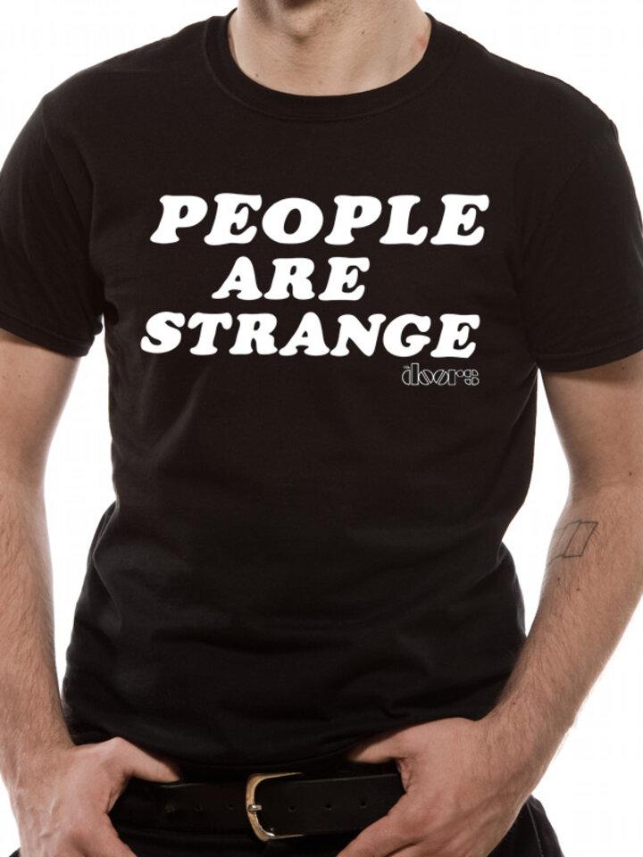 Hľadáte originálny a nezvyčajný darček? Obdarovaného zaručene prekvapí Tričko The Doors - People are strange