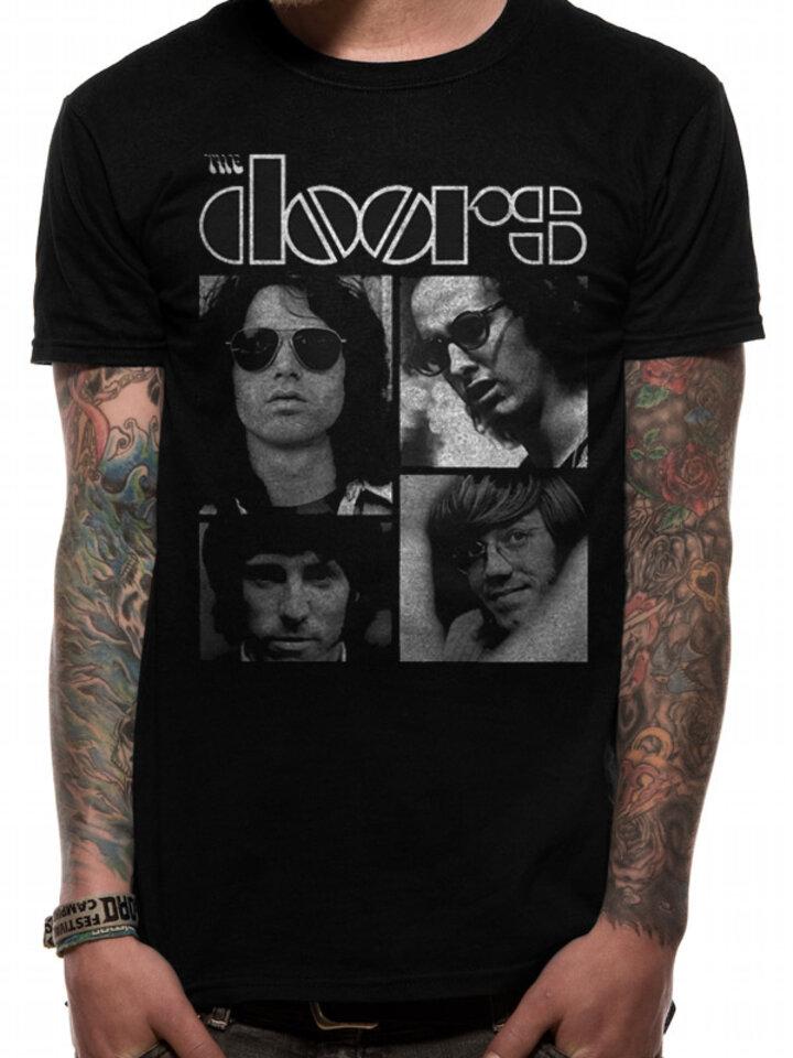 für ein vollkommenes und originelles Outfit T-Shirt The Doors - Squares