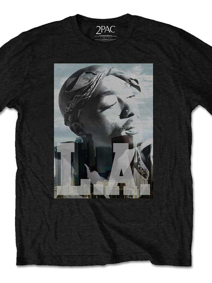 Geschenk von Dedoles T-Shirt Tupac LA Skyline
