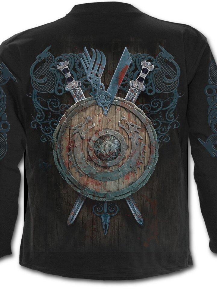 Lifestyle foto Tričko s dlhým rukávom Vikingovia Bitka