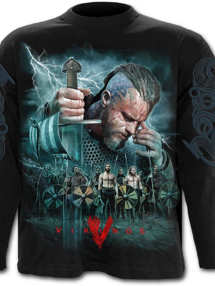 Obrázok produktu Tričko s dlhým rukávom Vikingovia Bitka