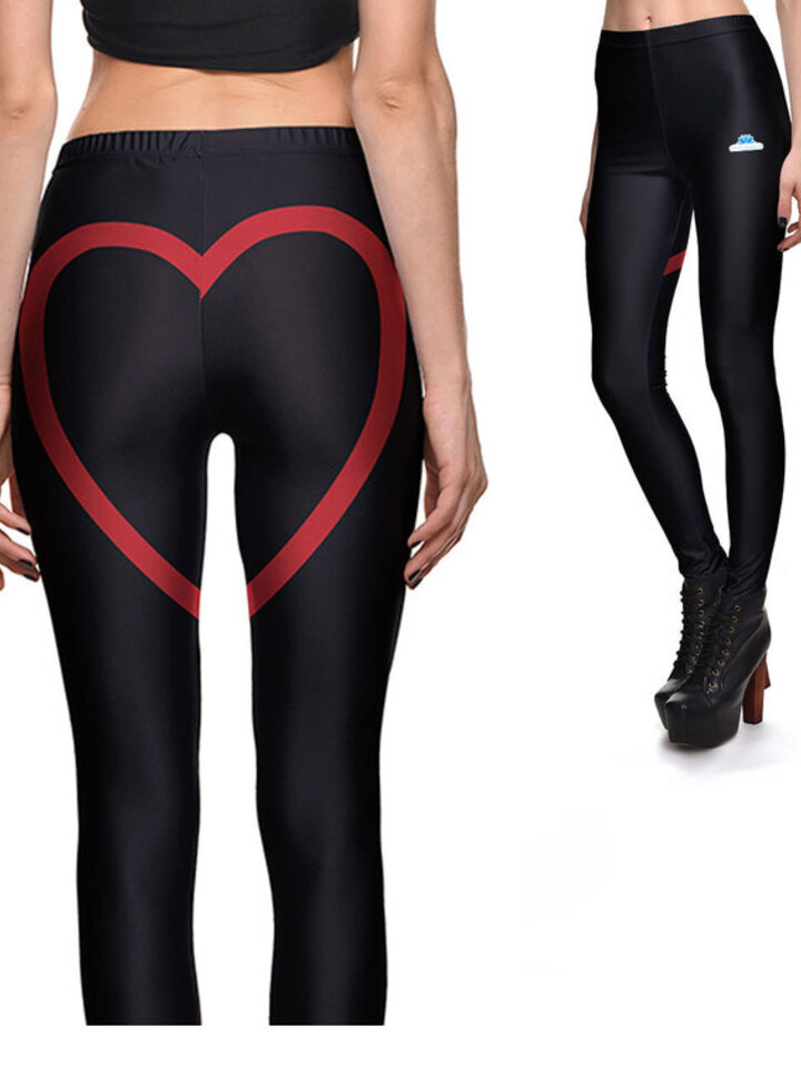 Original gift Ladies' Elastic Leggings Heart