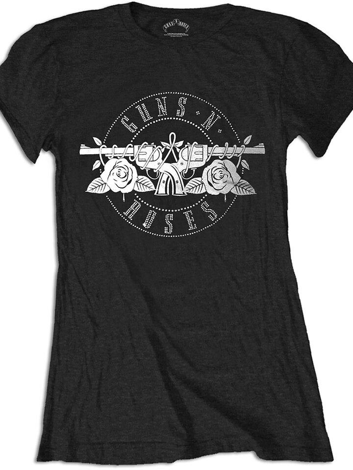 Suchen Sie ein originelles und außergewöhliches Geschenk? überrascht den Beschenkten sicher Damen T-Shirt Guns N' Roses Circle Logo
