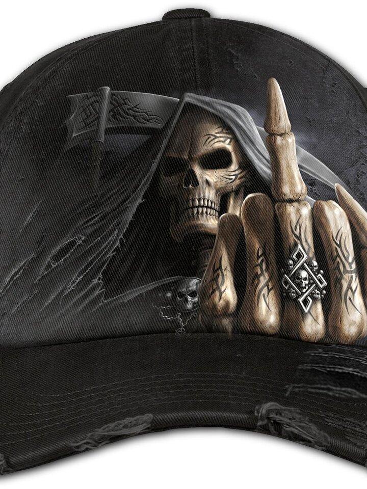 Zdjęcie lifestyle  Czarna czapka z daszkiem Kości palców