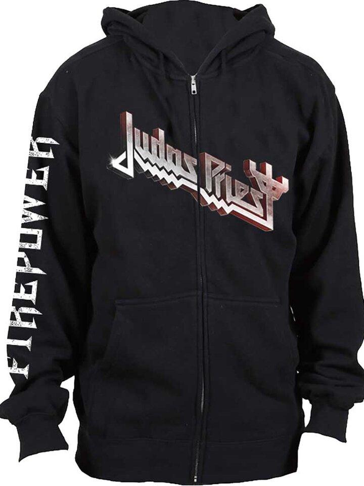 Tip na darček Crna dukserica s patentom Judas Priest Firepower