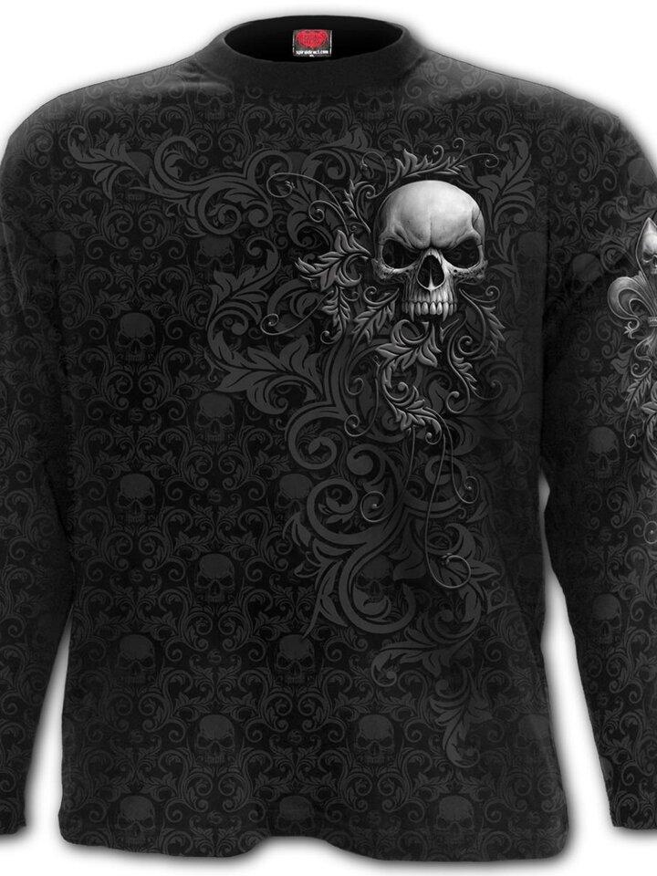 Kiárusítás Hosszú ujjú póló Sötét ornamentum
