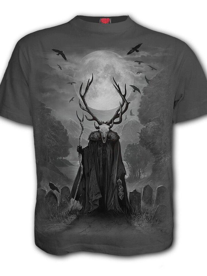 Lifestyle foto Šedé tričko Duša jeleňa