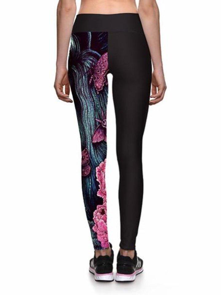 Pre dokonalý a originálny outfit Ženske športne elastične pajkice Lev