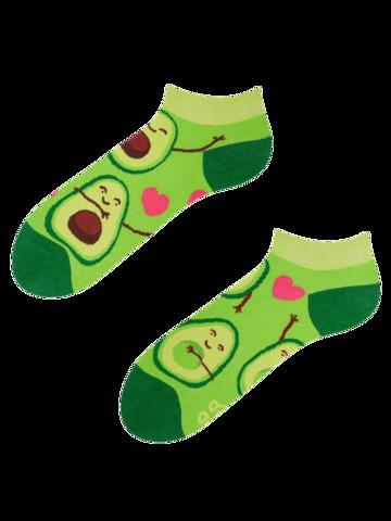 Tip na darček Meias alegres pelo tornozelo Paixão por Abacates