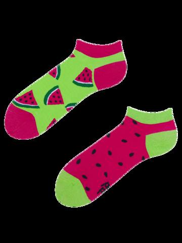Sleva Veselé kotníkové  ponožky Červený meloun