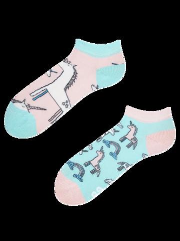pro dokonalý a originální outfit Veselé kotníkové ponožky Jednorožec