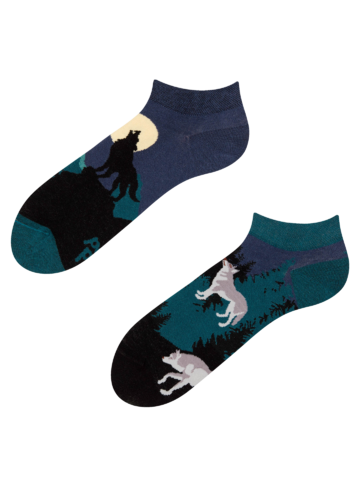 Sale Ankle Socks Moon Wolf