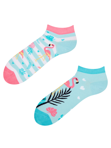 Tip na darček Veselé členkové ponožky Zamilované plameniaky
