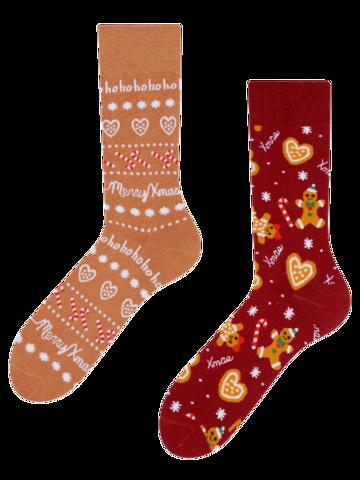 Suchen Sie ein originelles und außergewöhliches Geschenk? überrascht den Beschenkten sicher Lustige warme Socken Lebkuchen-Welt