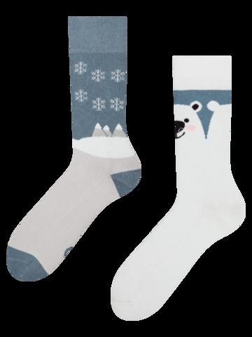 Výprodej Veselé teplé ponožky Polární medvěd