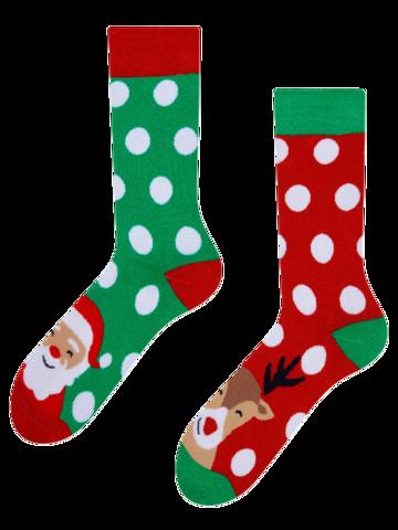 Sleva Veselé teplé ponožky Santa a Rudolf