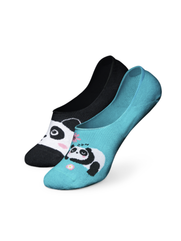 Hľadáte originálny a nezvyčajný darček? Obdarovaného zaručene prekvapí Chaussettes invisibles rigolotes Panda