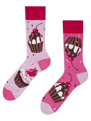 Lifestyle foto Vesele čarape Ružičasti kolačići