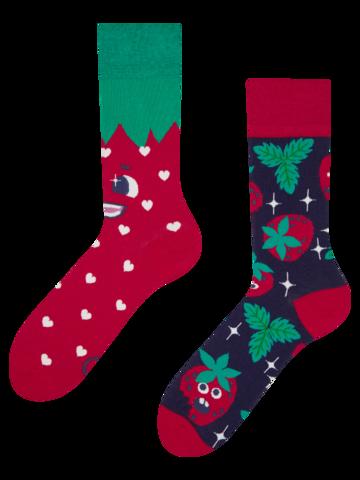 Pre dokonalý a originálny outfit Veselé ponožky Šťastné jahody