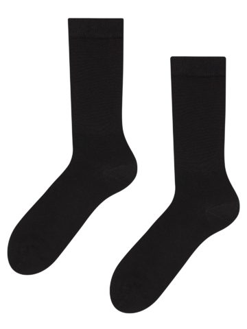 Pre dokonalý a originálny outfit Czarne bambusowe skarpetki Komfort