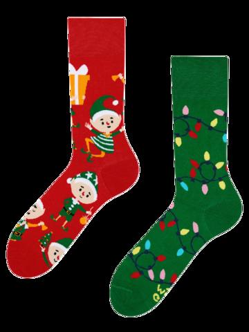 Foto Veselé ponožky Elfové