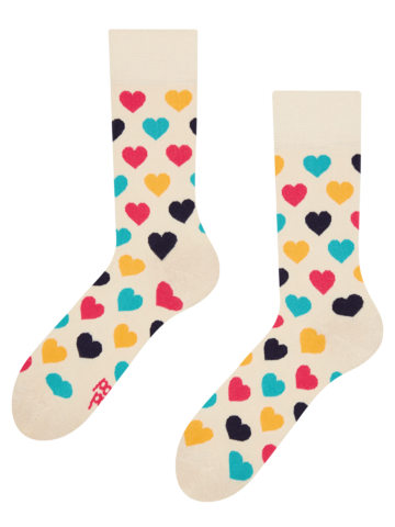 Foto Lustige Socken Bunte Herzen