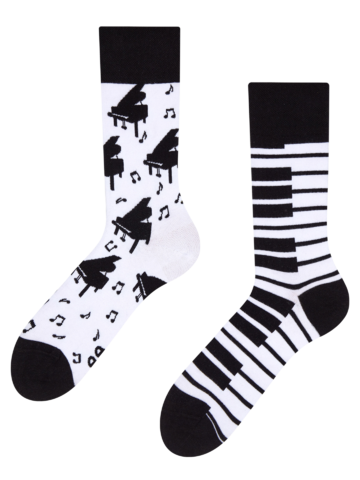 Pre dokonalý a originálny outfit Veselé ponožky Klavír