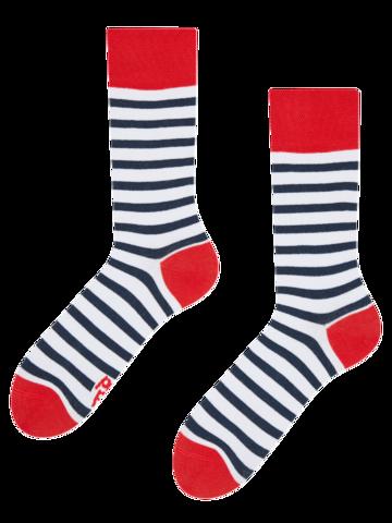 Ausverkauf Lustige Socken Marinestreifen