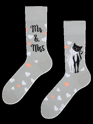Sale Regular Socks Wedding Cats